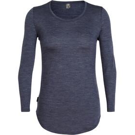 Icebreaker Solace LS Scoop Shirt Women midnight navy heather